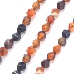 Agate Ball Faceted 6mm (~64pcs/string)