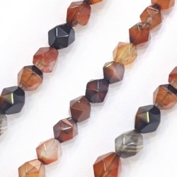 Agate Ball Faceted 8mm (~47pcs/string)