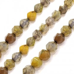 Agate Ball Faceted 10mm (~37pcs/string)