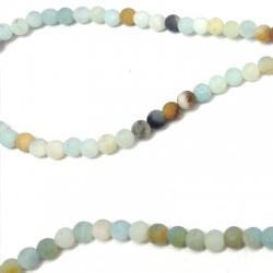 Perlina Liscia di Amazonite 4mm (~95pz/filo)