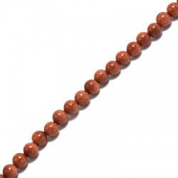 Gold Sand Bead Round ~4mm (~94pcs/string)