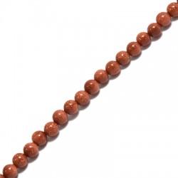 Perle en semi-précieuse Sable d'Or 4mm  (~94pcs/fil)