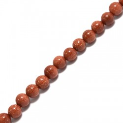 Gold Sand Bead Round ~6mm (~63pcs/string)