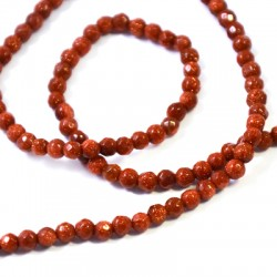 Perlina di Oro Sabbia Sfaccettata 4mm (~99pz/filo)