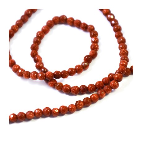 Gold Sand Bead Faceted 4mm (~99τμχ/κορδόνι)