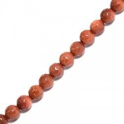 Ημιπολύτιμη Πέτρα Χρυσόλιθος Χάντρα 6mm(~62τμχ/κορδόνι)