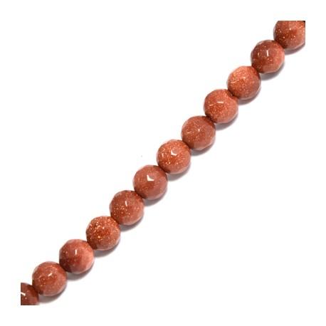 Perlina di Oro Sabbia Sfaccettata 6mm (~62pz/filo)