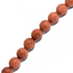 Perlina di Oro Sabbia Sfaccettata 10mm (~39pz/filo)