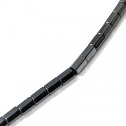 Distanziatore di Ematite Tubetto Esagonale 4x6mm (~40cm/filo)