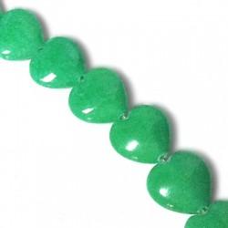 Passant Cœur en sémi précieux Mountain Jade 10mm (~45pcs/fil)