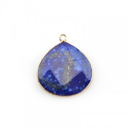 Brass Drop Setting with Semiprecious Stone 30mm w/ 1 Ring