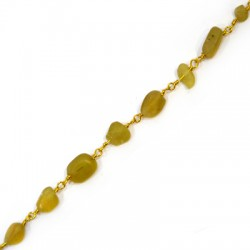 Chain Eyepin w/ Apatite Bead (~6x9mm)