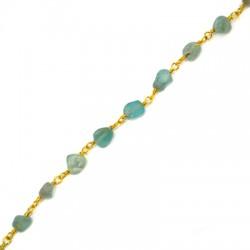 Chain Eyepin w/ Apatite Bead (~5x8mm)
