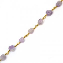 Chain Eyepin w/ Amethyst Bead (~6x7mm)