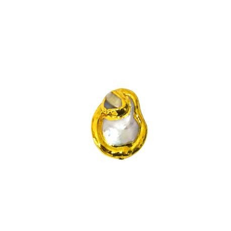 Μαργαριτάρι Στρογγυλό Περαστό Επιμεταλλωμένο (~20x24mm)