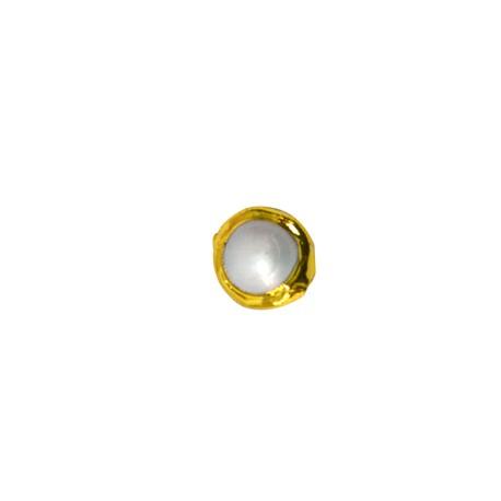 Μαργαριτάρι Στρογγυλό Περαστό Επιμεταλλωμένο (~12mm)
