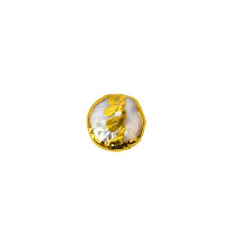 Μαργαριτάρι Στρογγυλό Περαστό Επιμεταλλωμένο(~18mm)