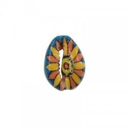 Shell Painted w/Flower 20x23mm