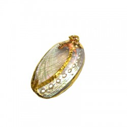 Shell Pendant with Metal (~23x34mm)