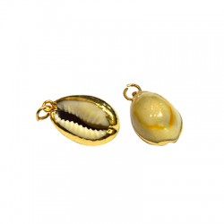 Shell Pendant with Metal (~13x19mm)
