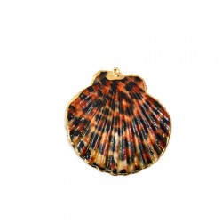 Sea Shell Pendant Plated (~42x47mm)