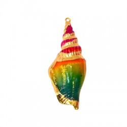 Sea Shell Pendant Plated (~25x64mm)