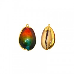 Sea Shell Pendant Plated (~19x28mm)