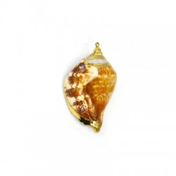 Sea Shell Pendant Plated (~20x45mm)