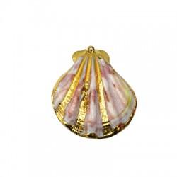 Sea Shell Pendant Plated (~40mm)