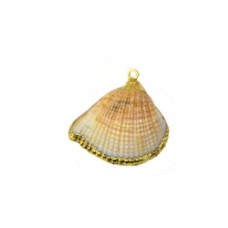 Sea Shell Pendant Plated (~20x30mm)