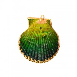 Sea Shell Pendant Plated (~50mm)