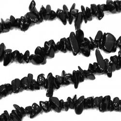 Γυάλινη Πέτρα Χάντρα Ακανόνιστη (~5x8mm) (~262τμχ/κορδόνι)