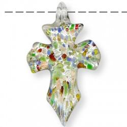 Murano Glass Cross 33x53mm