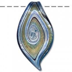 Ciondolo in Vetro Murano Foglia 27x48mm
