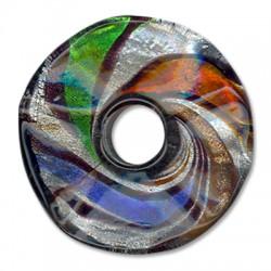 Murano Glass Pendant Round Donut 47mm