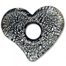 Murano Glass Heart 54x62mm