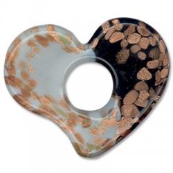 Murano Glass Heart 50x60mm