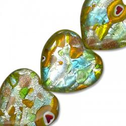Murano Glass Heart 18mm