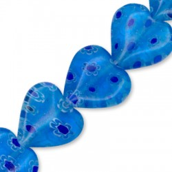 Millefiori Glass Bead Heart 12mm (36pcs)