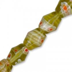Millefiori Glass Bead Irregular 8x10mm (5pcs)