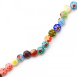 Millefiori Glass Bead Round 6mm (65pcs/string)