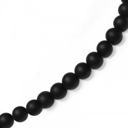 Γυάλινη Χάντρα Στρογγυλή Εφέ Πάγου 4mm (~108τμχ/κορδόνι)
