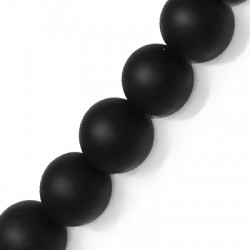 Perlina in Vetro Satinata 10mm  (~41 pz/filo)
