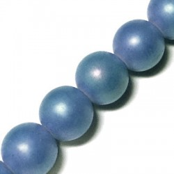Glass Bead Round Pearlised 10mm (40 pcs/string)