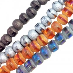 Glass Bead Half Frosted 7mm (~100pcs/str)