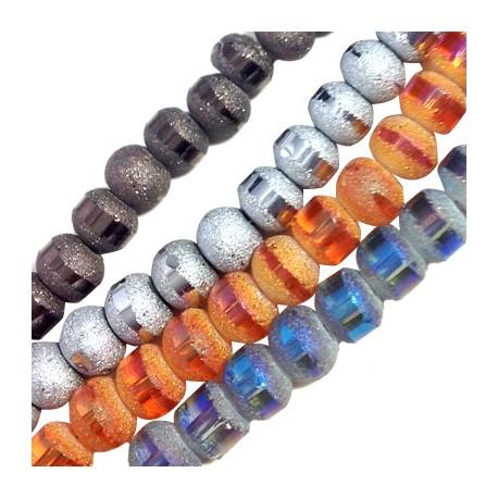 Perle Facetée en Cristal 7mm (~100 pcs/fil)