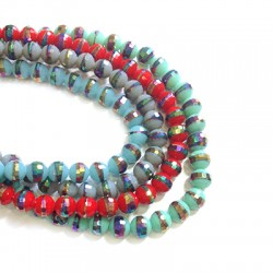 Glass Bead 8mm Plated (~36pieces/string)
