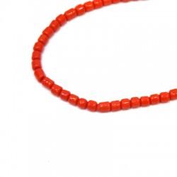 Perlina in Vetro Tubetto 3mm (~200pcs/75cm/filo)