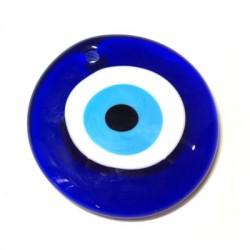Ciondolo in Vetro Rotondo con Occhio 80mm