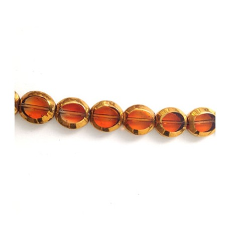 Glass Bead Oval Plated  9x10mm (~36pcs)